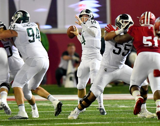 Michigan State quarterback Brian Lewerke looks to avoid the letdown against Central Michigan.