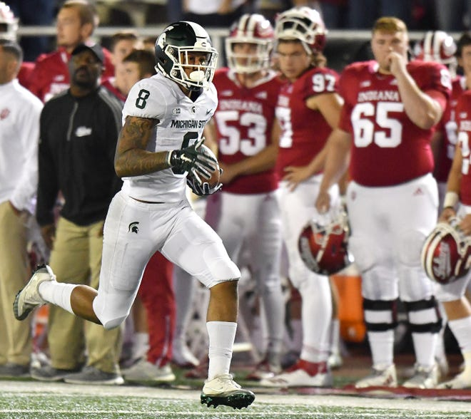 Michigan State's Jalen Nailor breaks loose for a long run and the touchdown that put the game out of reach.