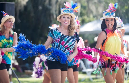The Calendar Girls perform on Sunday at the Southwest Florida Peace Day Celebration at the Alliance for the Arts in Fort Myers. The annual event is part of International Day of Peace events.