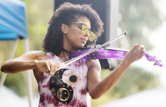 Lena Rodgriguez performs on Sunday at the Southwest Florida Peace Day Celebration at the Alliance for the Arts in Fort Myers. The annual event is part of International Day of Peace events.
