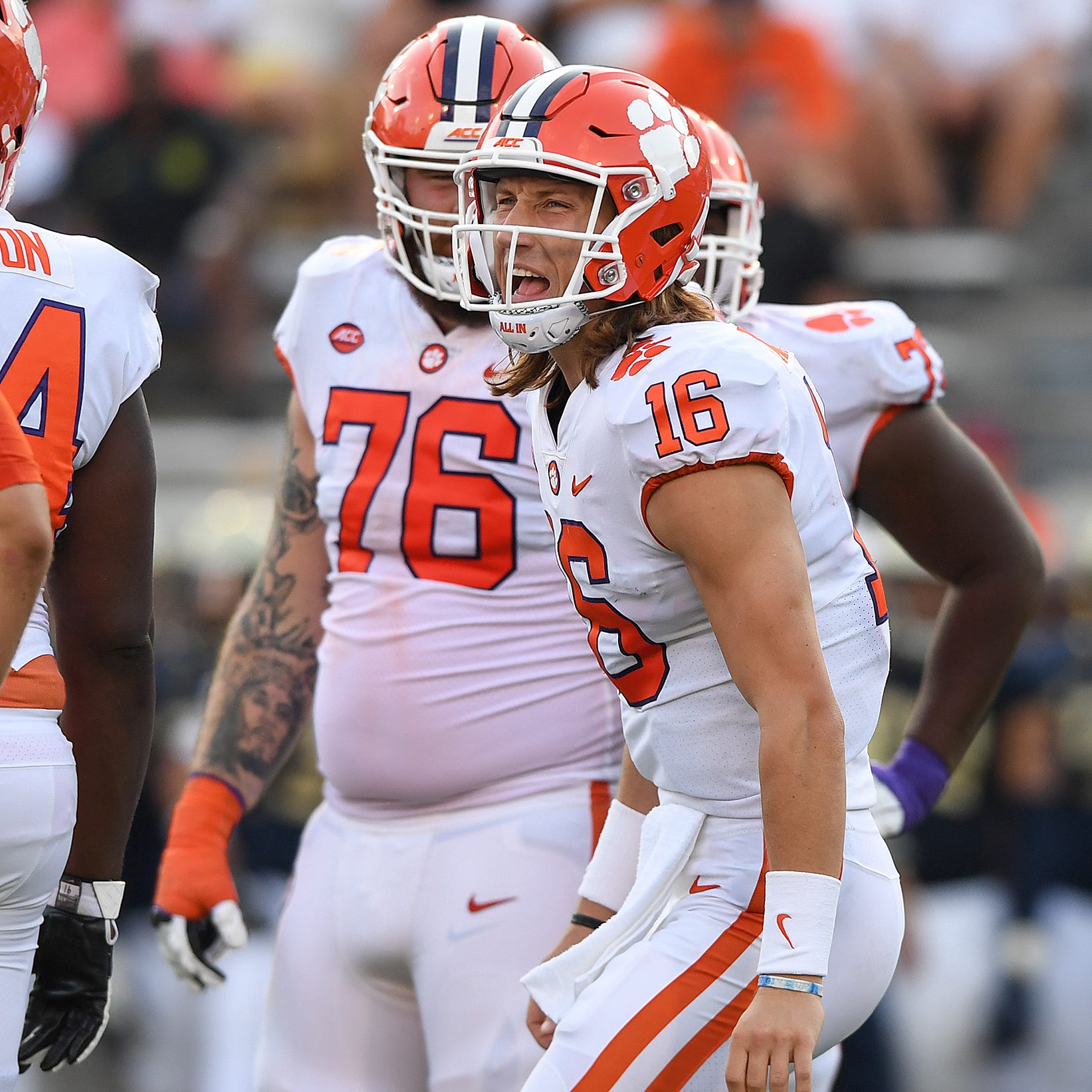 Clemson teammates react to quarterback Trevor Lawrence's promotion
