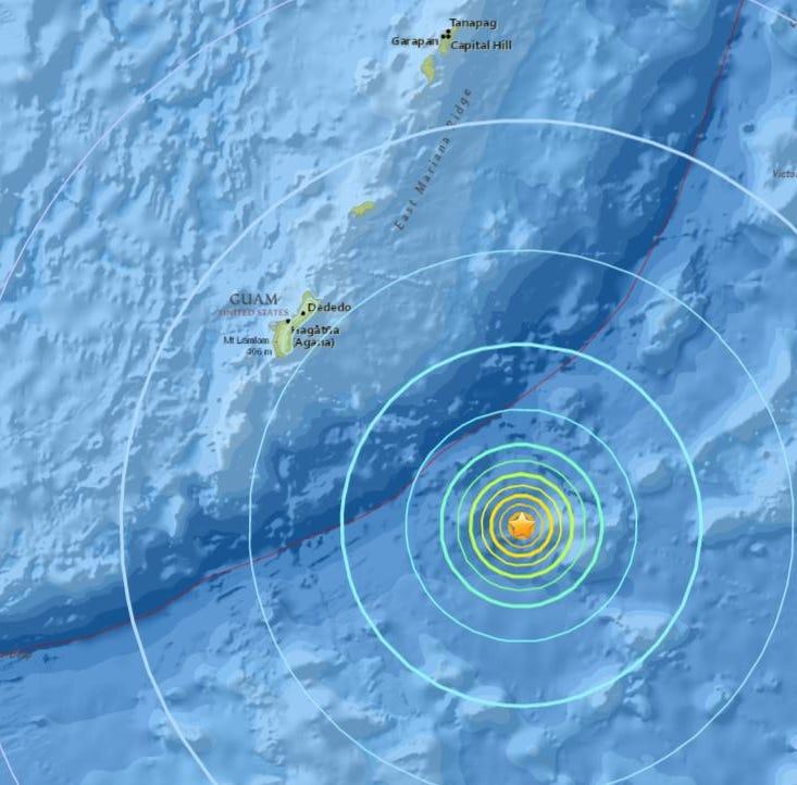 6.4 magnitude earthquake shakes Guam