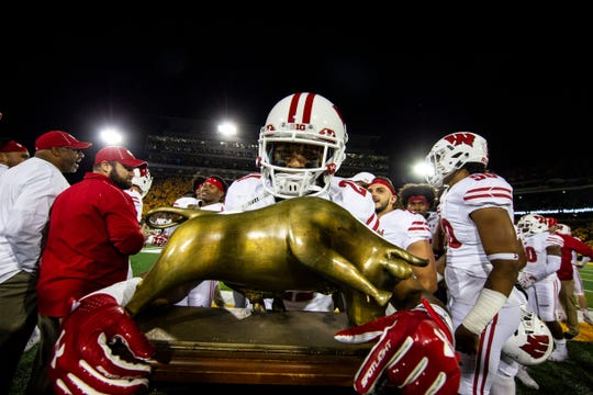 Iowa led Wisconsin, 17-14, into the final minute before losing. The Hawkeyes also lost in the final minutes against Penn State and Purdue.