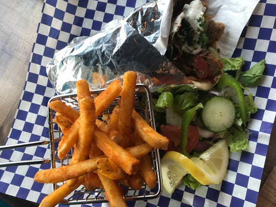Spicy Gyro served at Papa Fattoush. The Greek restaurant opened in Carmel Sept. 15, 2018 at 15 E. Main Street in the Arts and Design District.