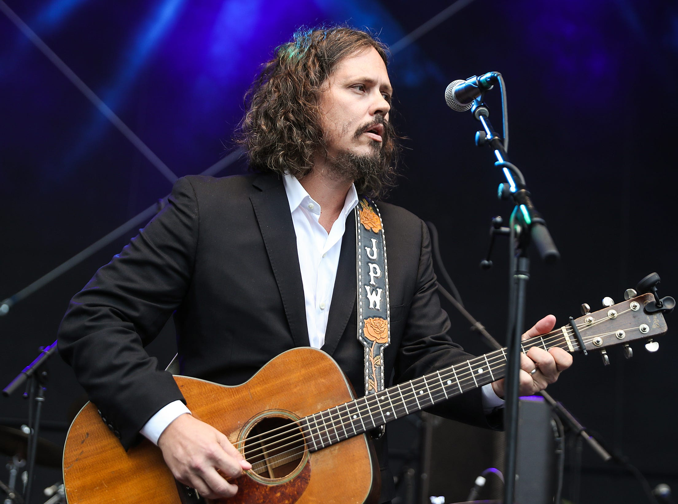 Vocalist and guitarist John Paul White, half of former duo The Civil Wars, at the inaugural Holler on the Hill music festival at Garfield Park in Indianapolis, Saturday, Sept. 22, 2018.