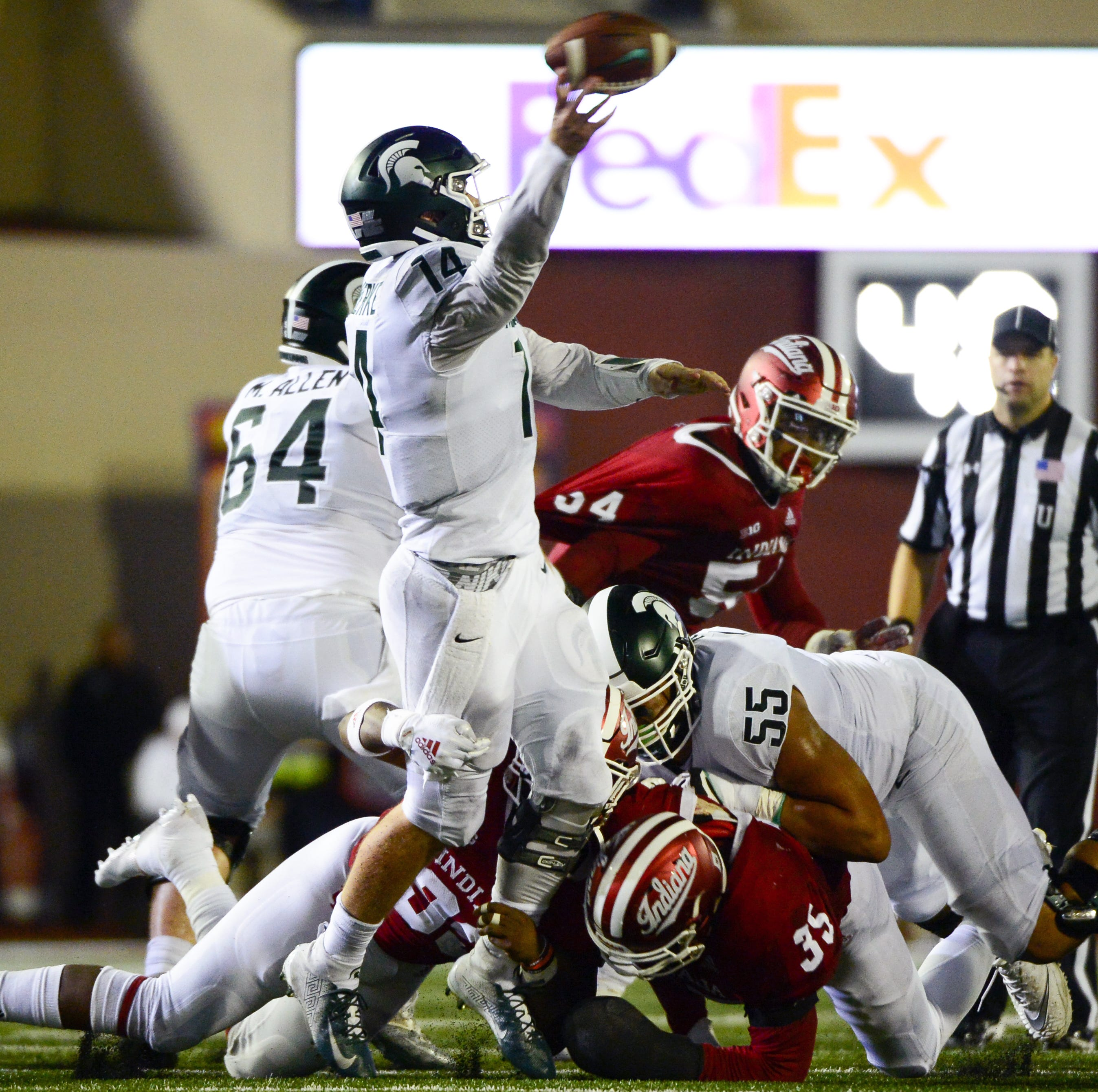 Michigan State football's run defense excelling; who'll play on OL?