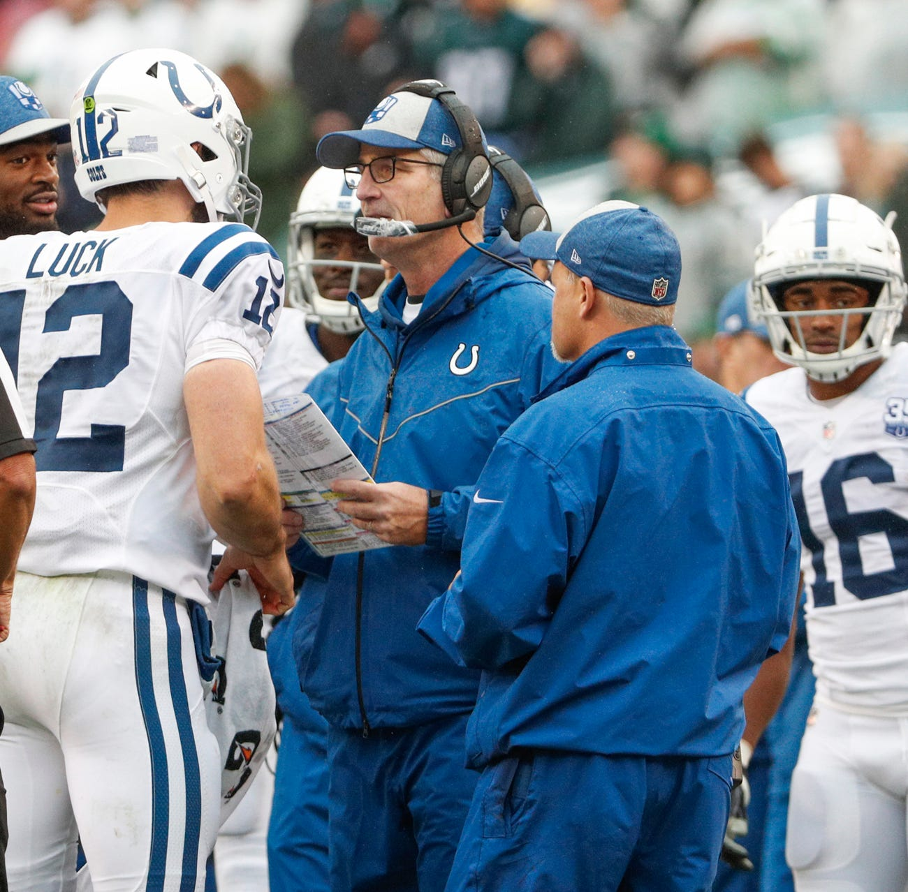 Colts' Frank Reich on Andrew Luck, missed calls, and his defense 3 games in