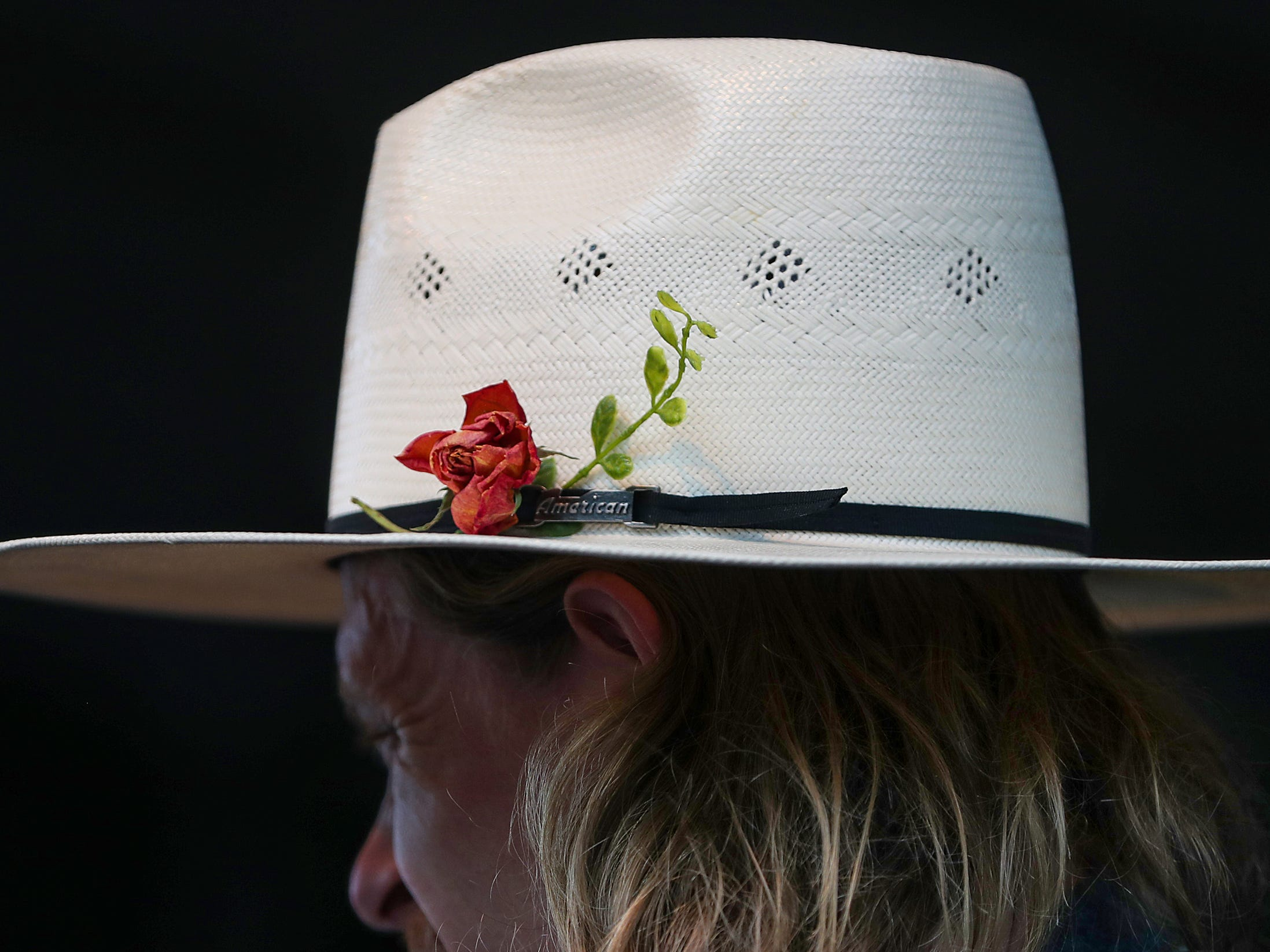 Vocalist and guitarist Taylor Meier wears a stylish hat while performing with Ohio-based folk group Caamp at the inaugural Holler on the Hill music festival at Garfield Park in Indianapolis, Saturday, Sept. 22, 2018.