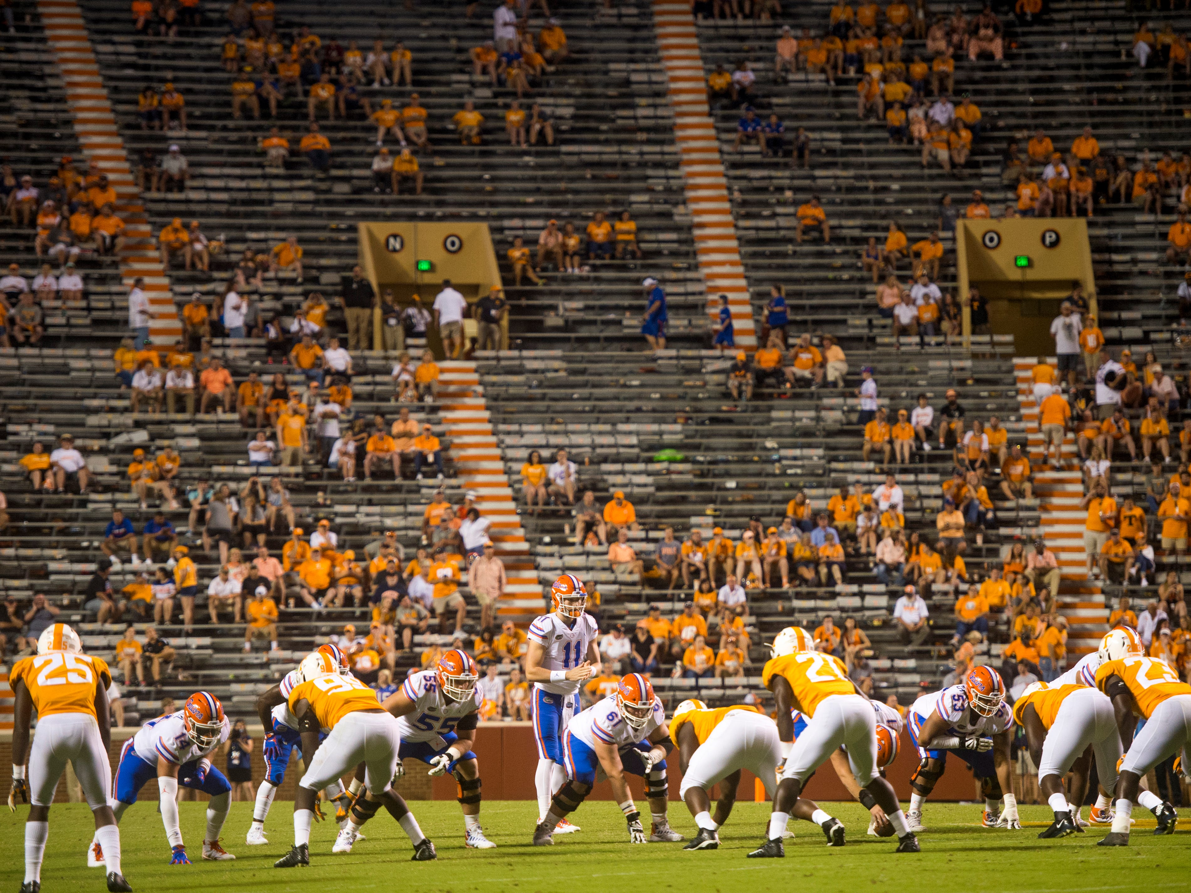 Empty stands during the Tennessee Volunteers' game against Florida in Neyland Stadium on Saturday, Sept. 22, 2018.