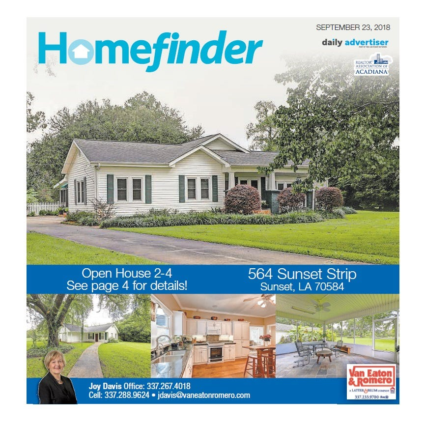 Homefinder: Sept. 23, 2018
