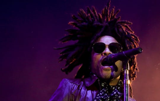 Mother nature brought the rain, Lenny Kravitz provided the thunder at Bourbon and Beyond in Louisville, Ky.  Sept. 22, 2018