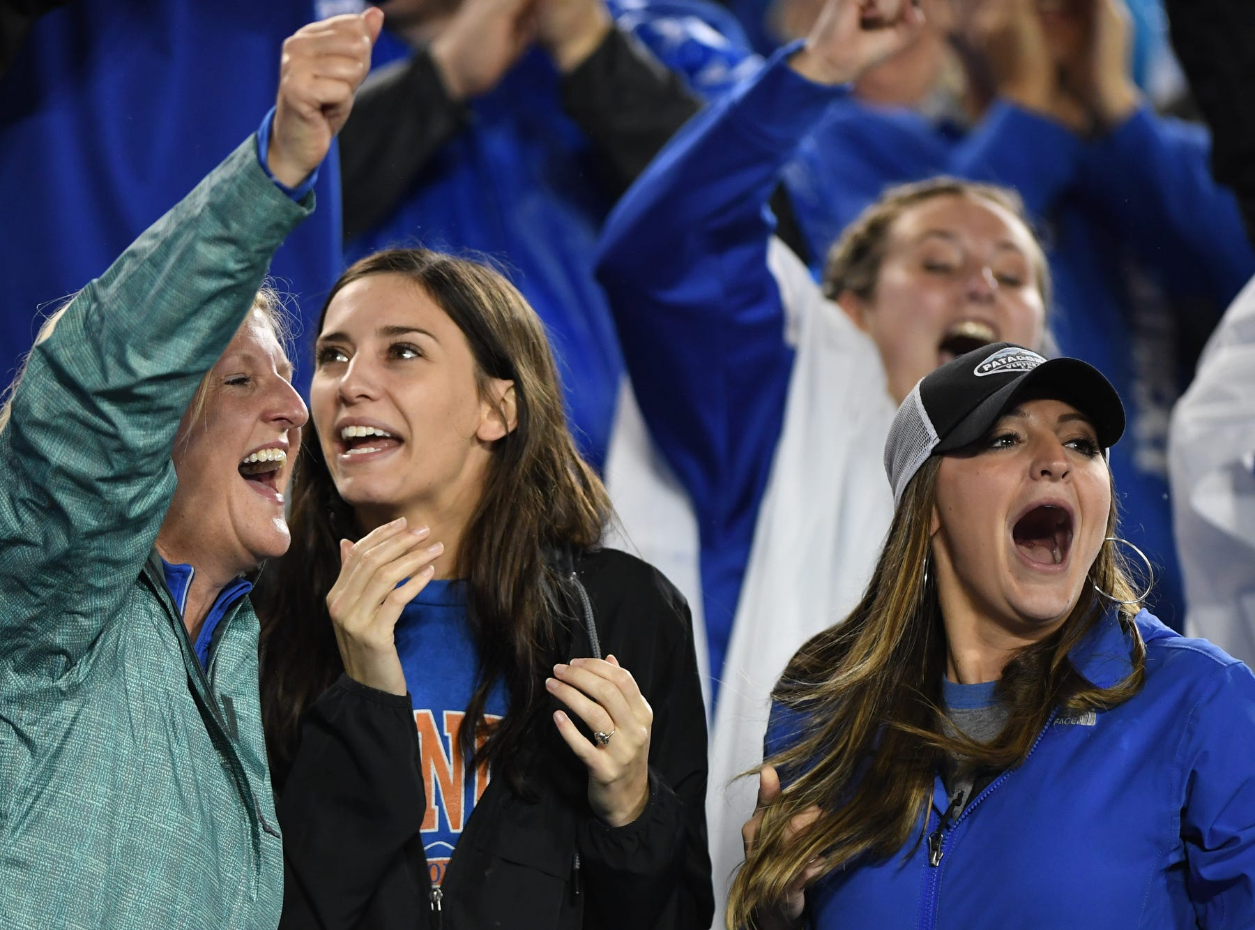 UK fans during the University of Kentucky football game against Mississippi State at Kroger Field in Lexington, Kentucky on Saturday, September 22, 2018.