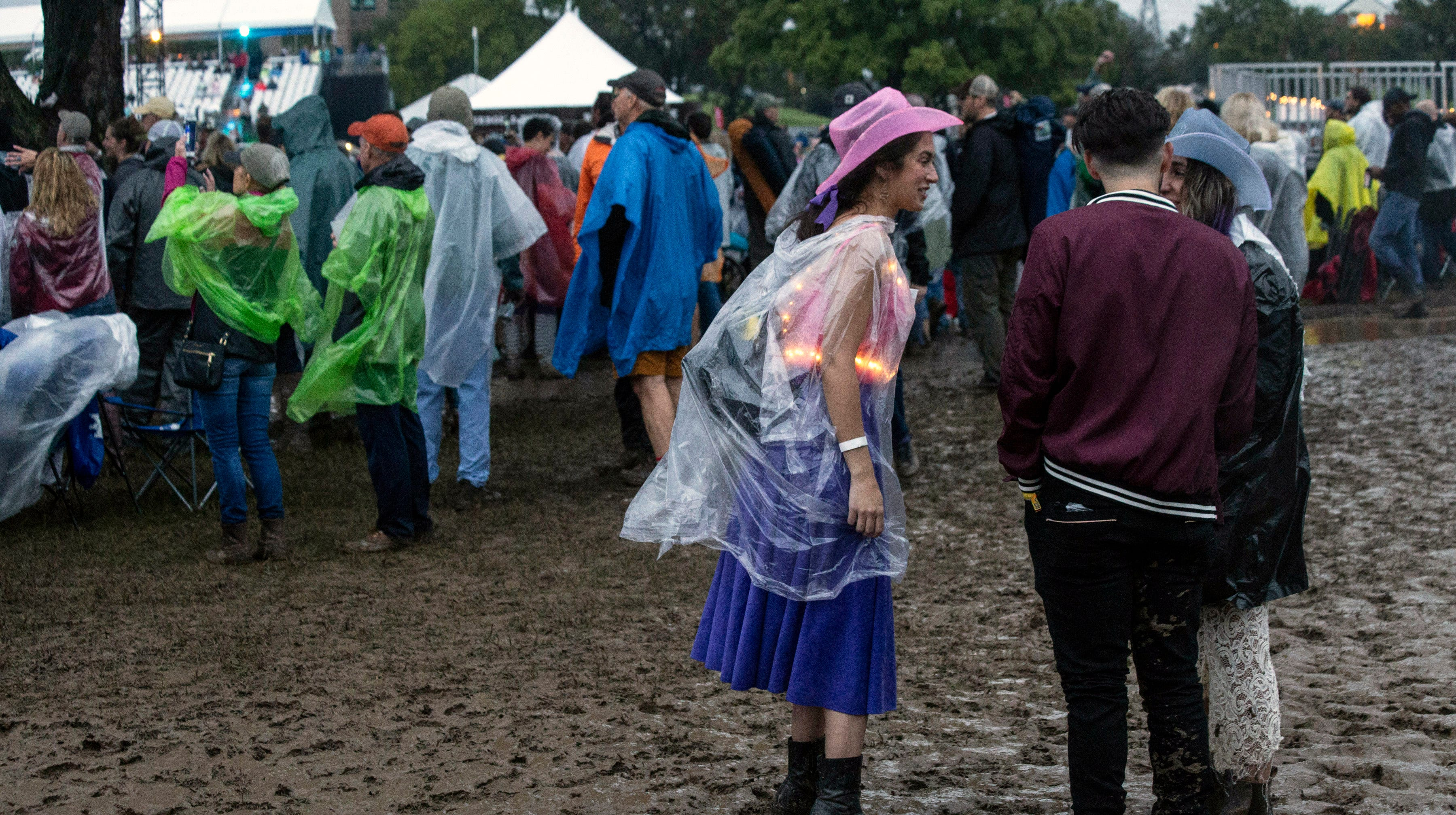 Fans navigated a muddy and wet Champions Park on Saturday to enjoy the all day music and endless beverage offerings at Bourbon & Beyond. 9/22/18