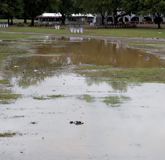 Bourbon & Beyond cancels Sunday's shows due to hazardous conditions after heavy rains for an extended period of time. Sept. 23, 2018