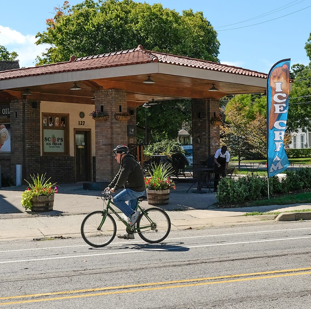Renovated Old Town gas station is now an ice cream parlor