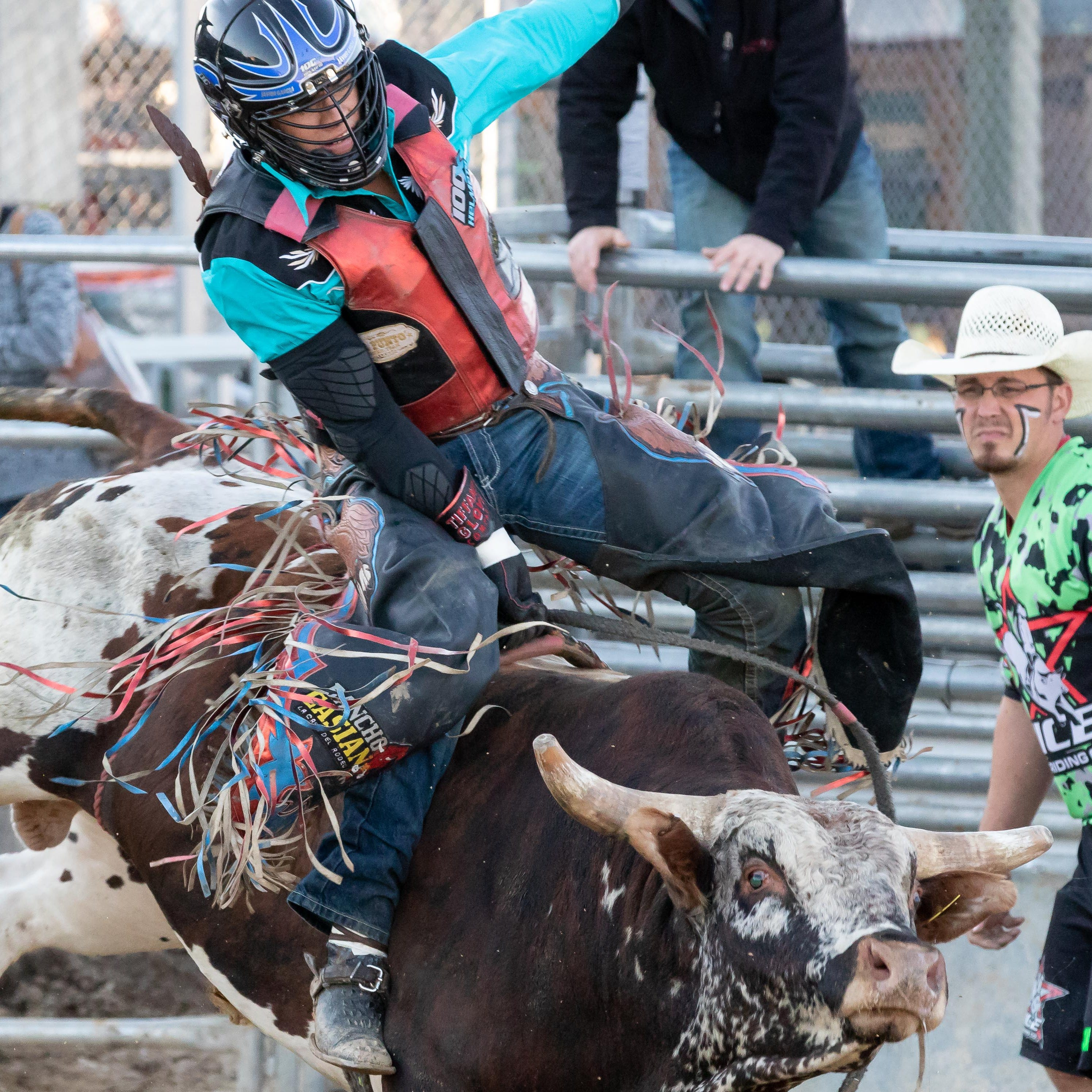 Bull riders and barrel racers compete in finals at Marshfield fairgrounds