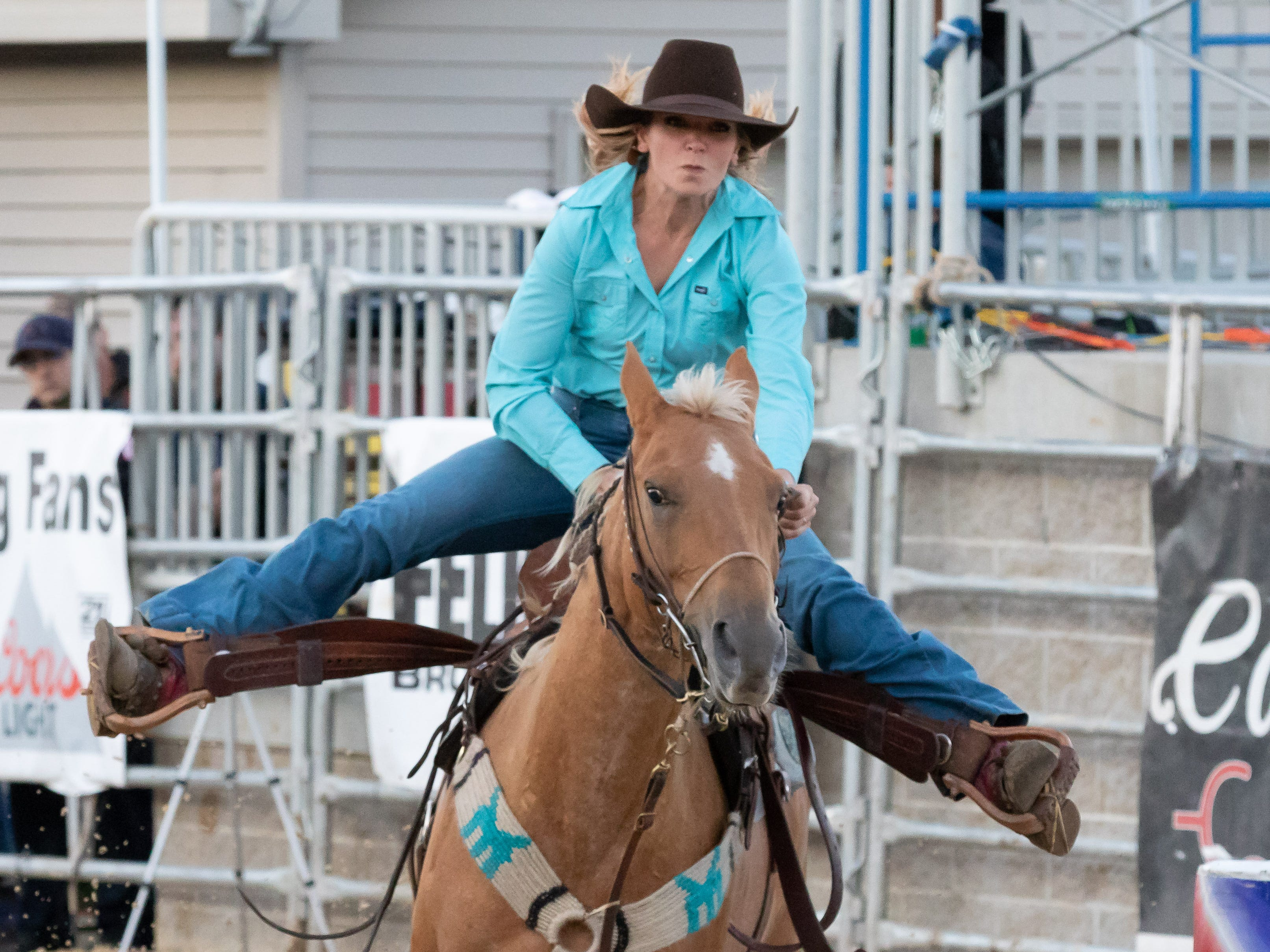 Riders from Wisconsin and Minnesota compete in the Central Barrel Racing Association Finals on Saturday, Sept. 22, 2018, at the Central Wisconsin State Fairgrounds in Marshfield.