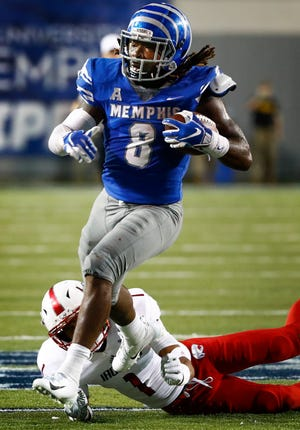 Memphis running back Darrell Henderson will forego his senior season and enter the NFL Draft. He has not decided yet if he will play in the Birmingham Bowl.