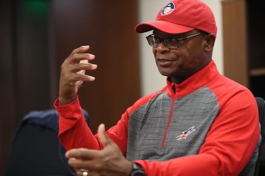 Mike Singletary, the Head Coach of Memphis Express, talks about his role in the newly formed eight-team Alliance of American Football spring pro football league from the offices of the Liberty Bowl on Sunday, Sept.23, 2018.