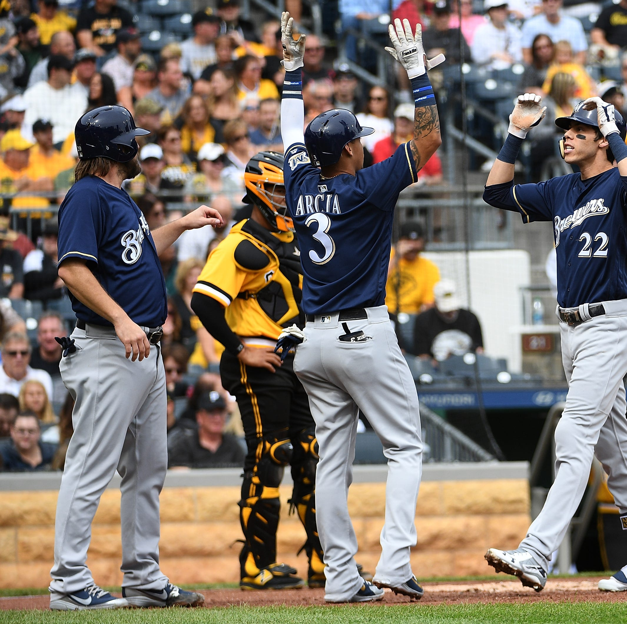 Notes: Christian Yelich feels lucky to avoid serious injury when hit by pitch Sunday