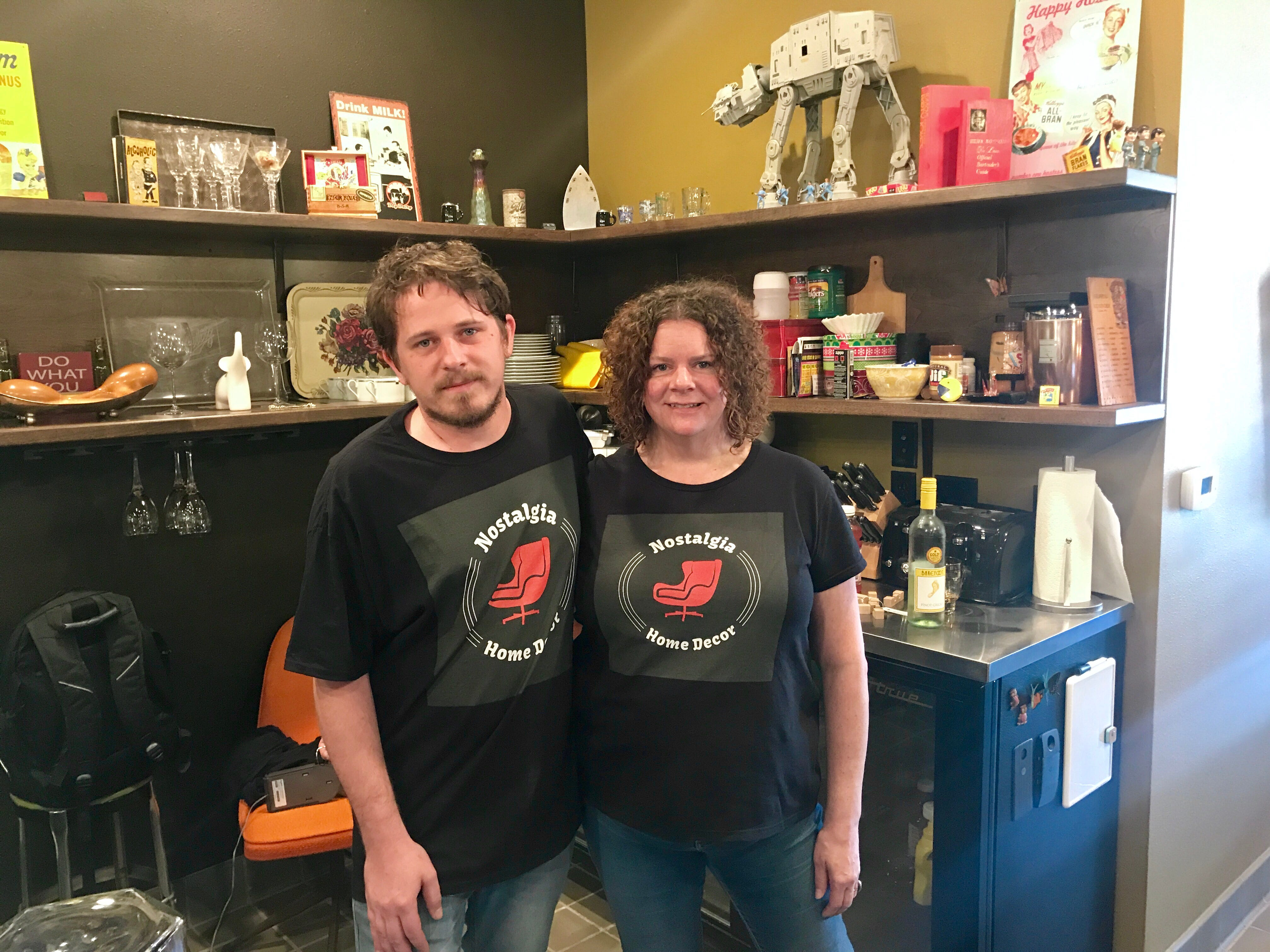 William Bachle and Georgette Muilenburg own Nostalgia Home Decor on North King Drive. The area was a spotlight neighborhood in the annual Doors Open Milwaukee event.