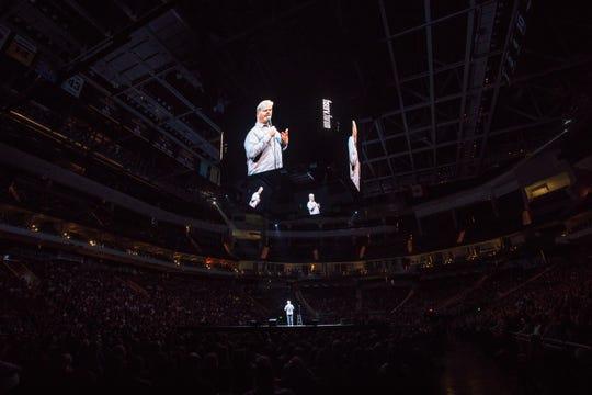Comedian Jim Gaffigan performs at Fiserv Forum Saturday.