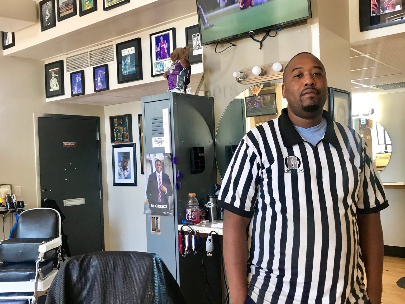 James Flippin is a barber at Gee's Clippers on North King Drive. The area was a spotlight neighborhood in the annual Doors Open Milwaukee event.