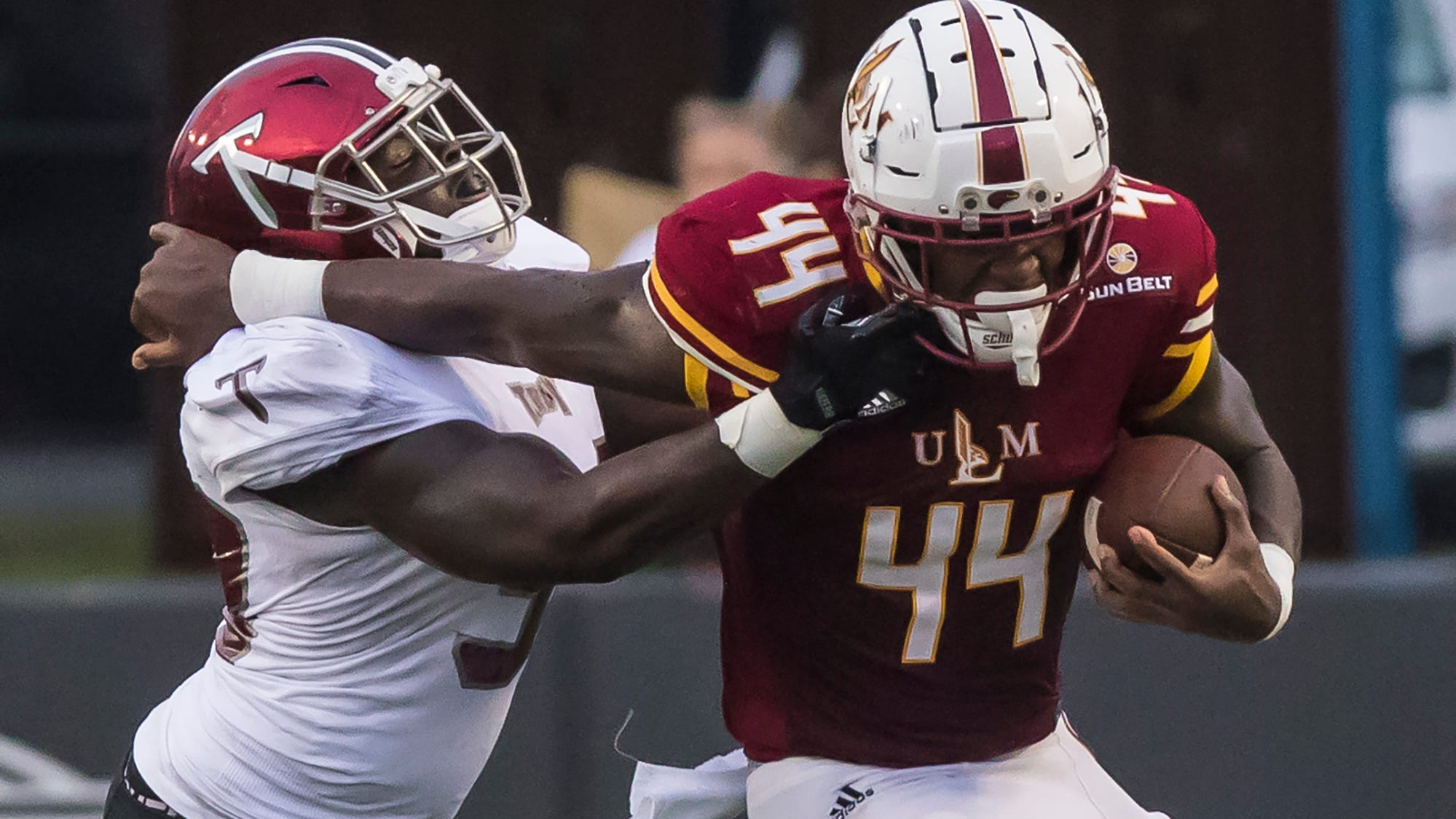 Troy traveled to ULM to take on the Warhawks at Malone Stadium in Monroe, La. on Sept. 22. ULM lost in the waning seconds of the game 35-28.