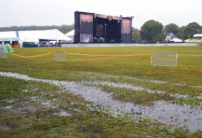 Due to heavy rainfall the Pilgrimage Music & Cultural Festival canceled Sunday's events Sept. 23, 2018.