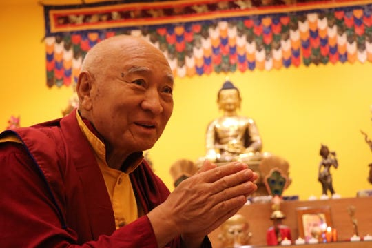 Tibetan Buddhist master Venerable Khenpo Tsewang Dongyal Rinpoche presided over the inauguration ceremony of the new Yeshe Tsogyal Temple in Berry Hill.
