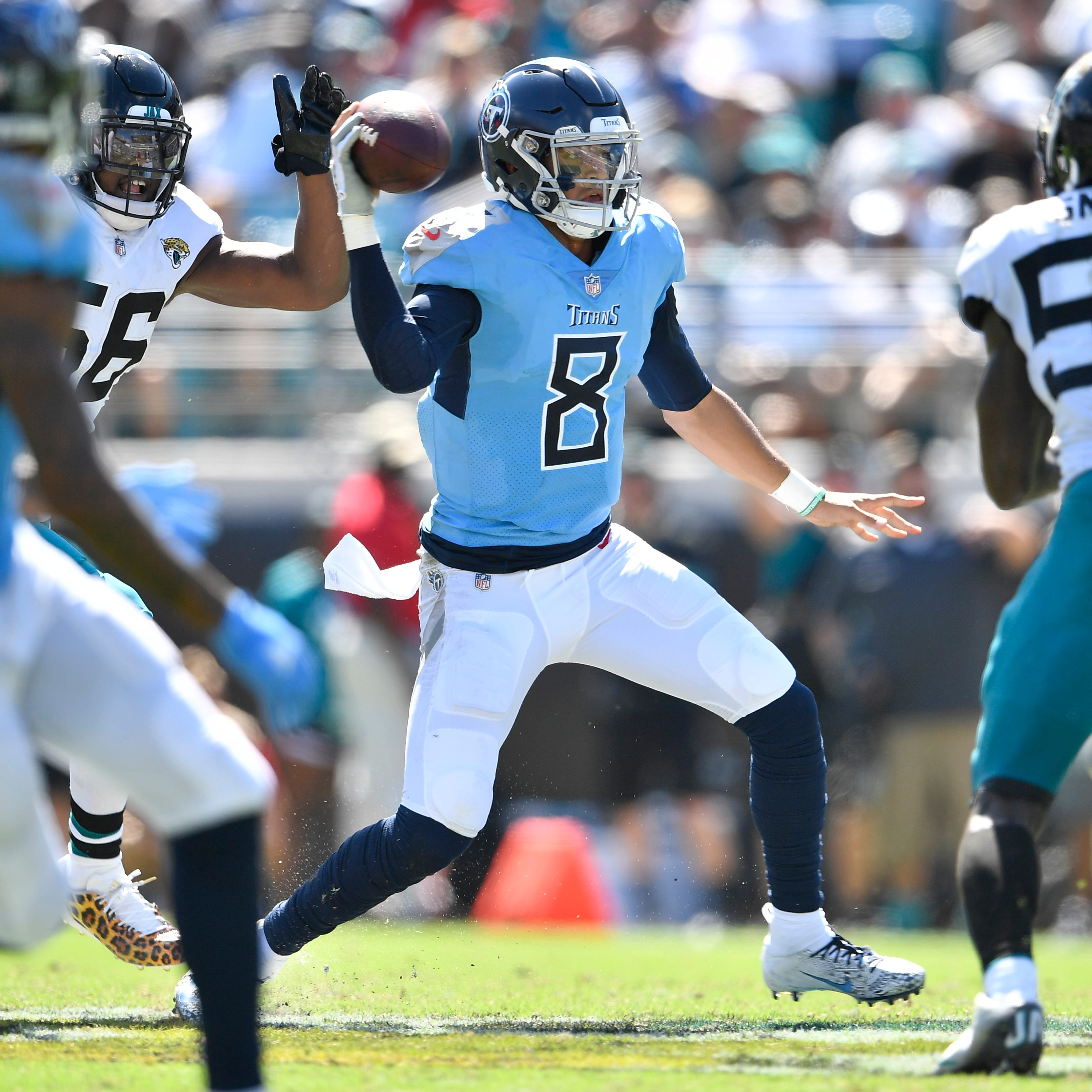 Titans 9,  Jaguars 6: 5 things to know including Marcus Mariota replacing Blaine Gabbert