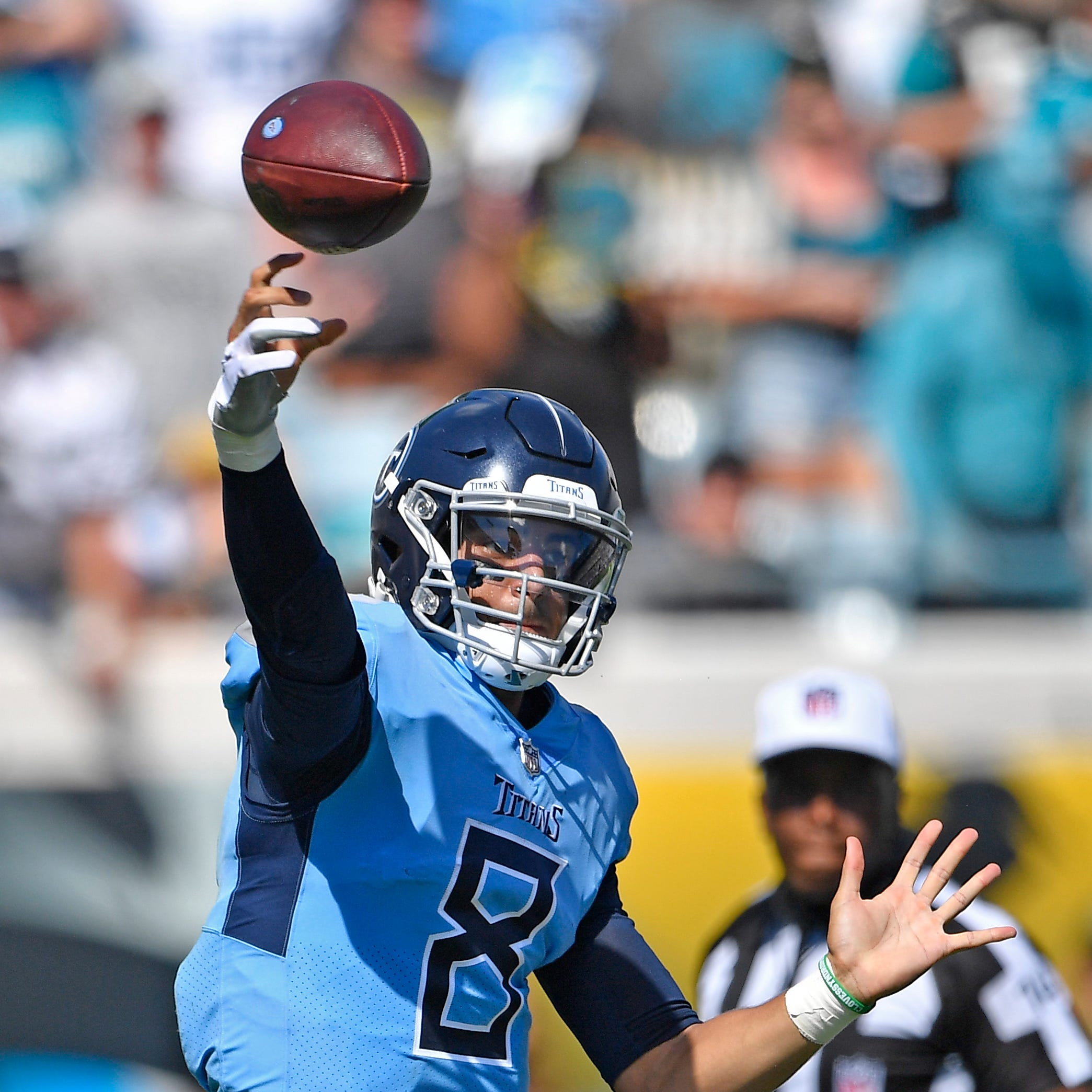 Marcus Mariota is up, Blake Bortles is down after Titans upset Jaguars
