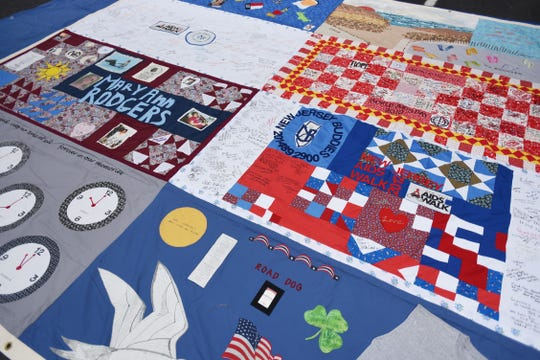 A portion of the New Jersey Aids Quilt on display at the first annual Resource and Community Wellness Fair held by Buddies of NJ in Hackensack on 0923/18. The Buddies support people living with or affected by HIV/AIDS