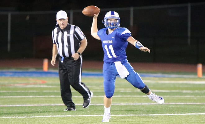 Millburn's Shane Sullivan threw for 192 yards and two touchdowns to Evan Molka in a loss to Irvington.