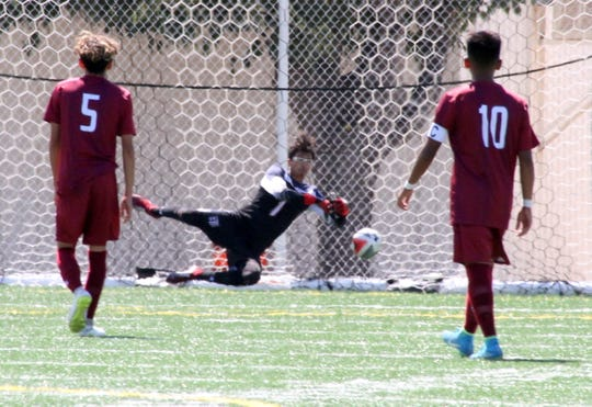 Senior Wildcat goal keeper Juan Nevarez was tested early and often in Saturday's 4-1 home loss to the visiting Gadsden High Panthers.