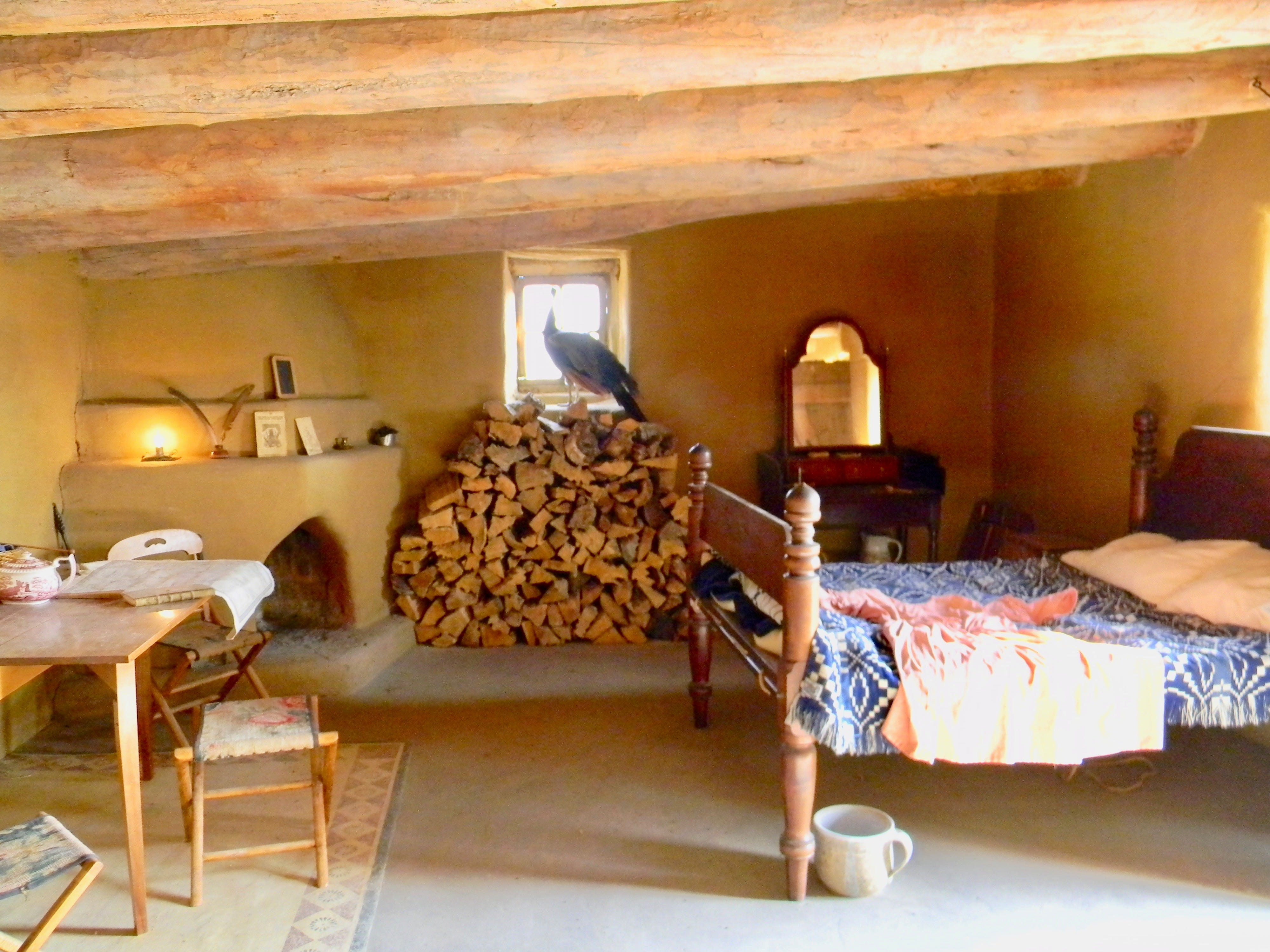 The is Susan Magoffin's room at Bent's Old Fort, where she convalesced after a miscarriage.