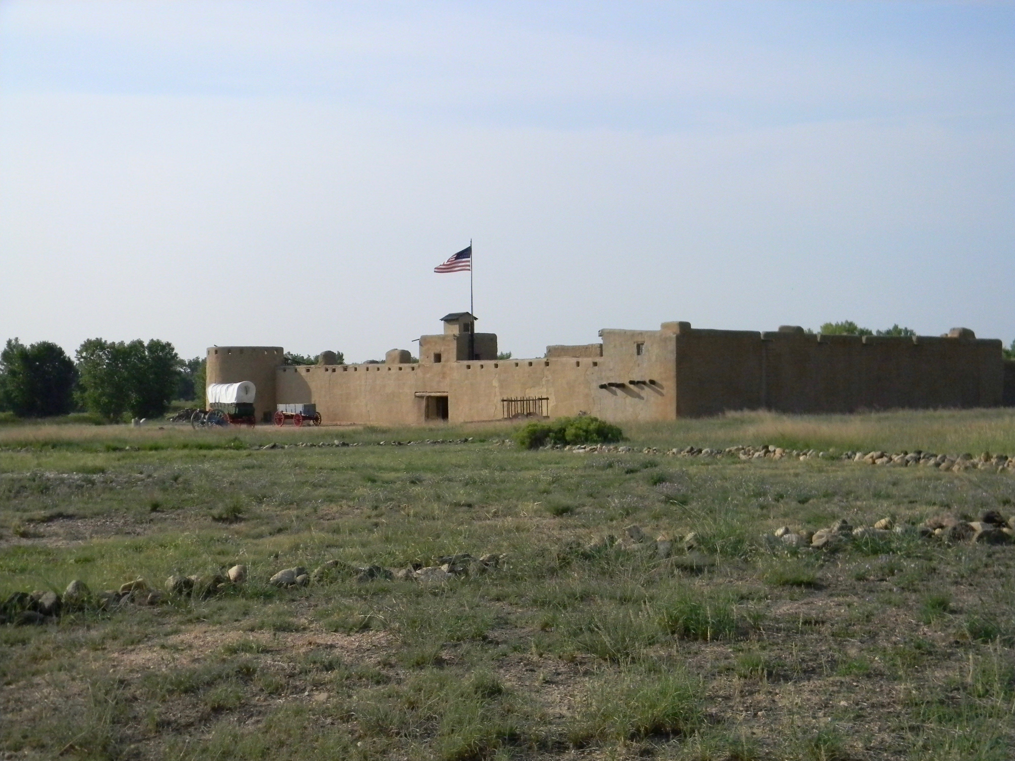 Looking more like a military post than a mercantile, Bent's Old Fort in southern Colorado warehoused and shipped goods from across most of the Rocky Mountain area to the United States — ending at the Mississippi.