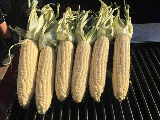 Corn grilling at the 2nd annual Tejano Music Festival in Cathedral City.