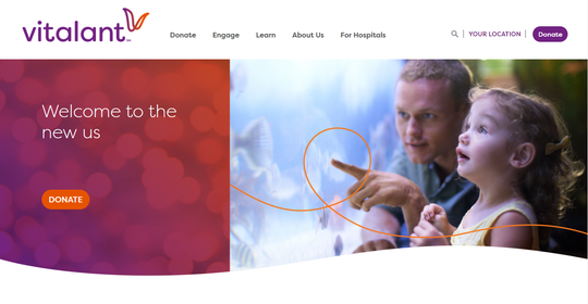 A view of Scottsdale-based Blood Systems' new website under the brand Vitalant. Blood Systems announced in a press release that it is unifying its 10 blood center brands, including United Blood Services.