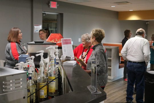 Port Clinton students can grab a fresh smoothie or a latte and relax in the café atmosphere of the school's new student union and media center.