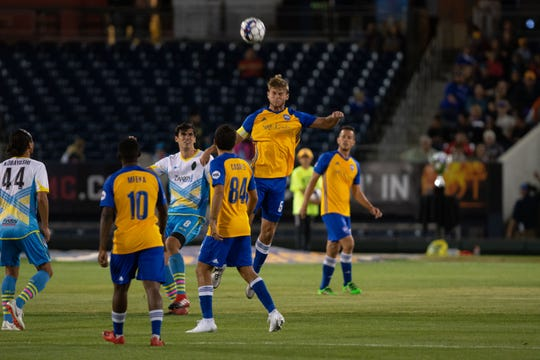Reno 1868 FC faced Las Vegas Lights FC on Saturday, Sept. 22, 2018 at Greater Nevada Field in downtown Reno.  Photo by David Calvert/Reno 1868 FC