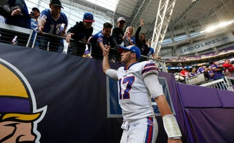 Bills coach Sean McDemott praised the play of quarterback Josh Allen and the rest of the team in the post-game press conference.