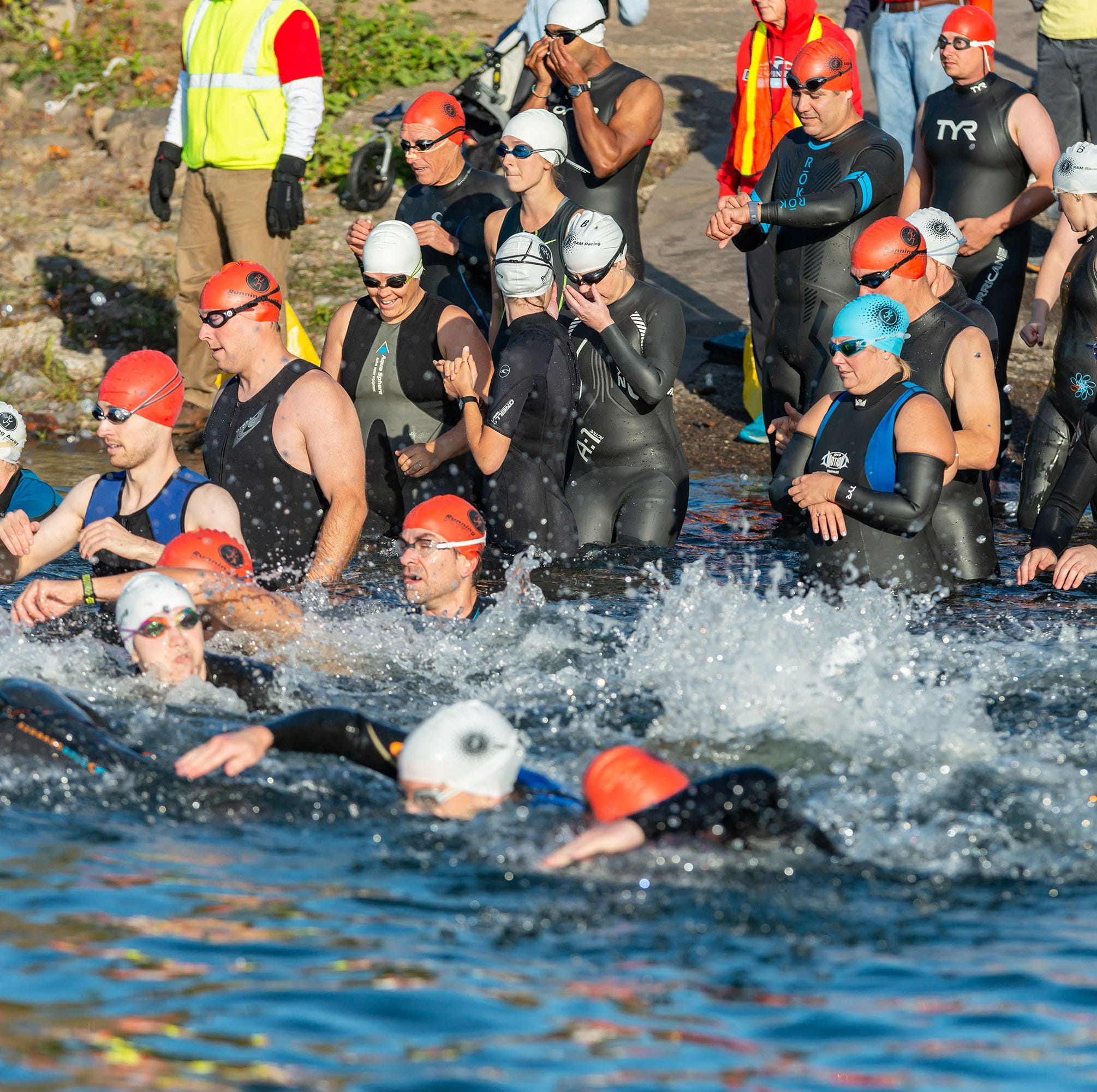 Salem triathletes dive in: Rotary Riverfest brings back swimming portion of event