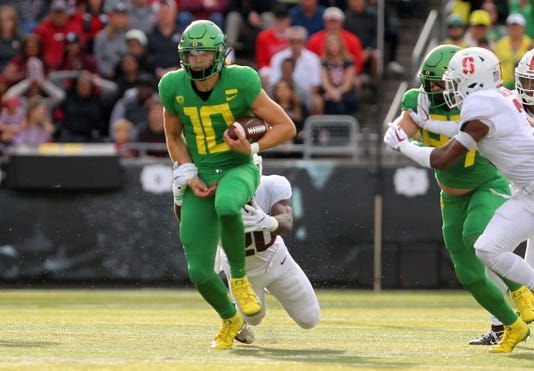 Ncaa Football Stanford At Oregon
