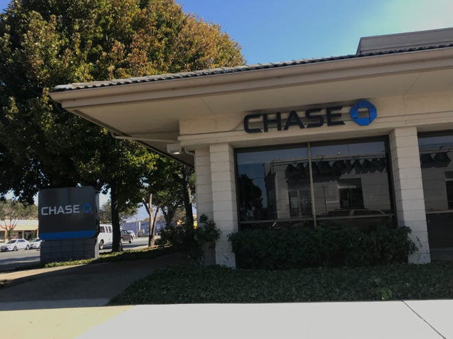 The Chase Bank on E. Alisal Street was robbed by four people who left with an undisclosed amount of cash Saturday afternoon, according to Salinas Police.