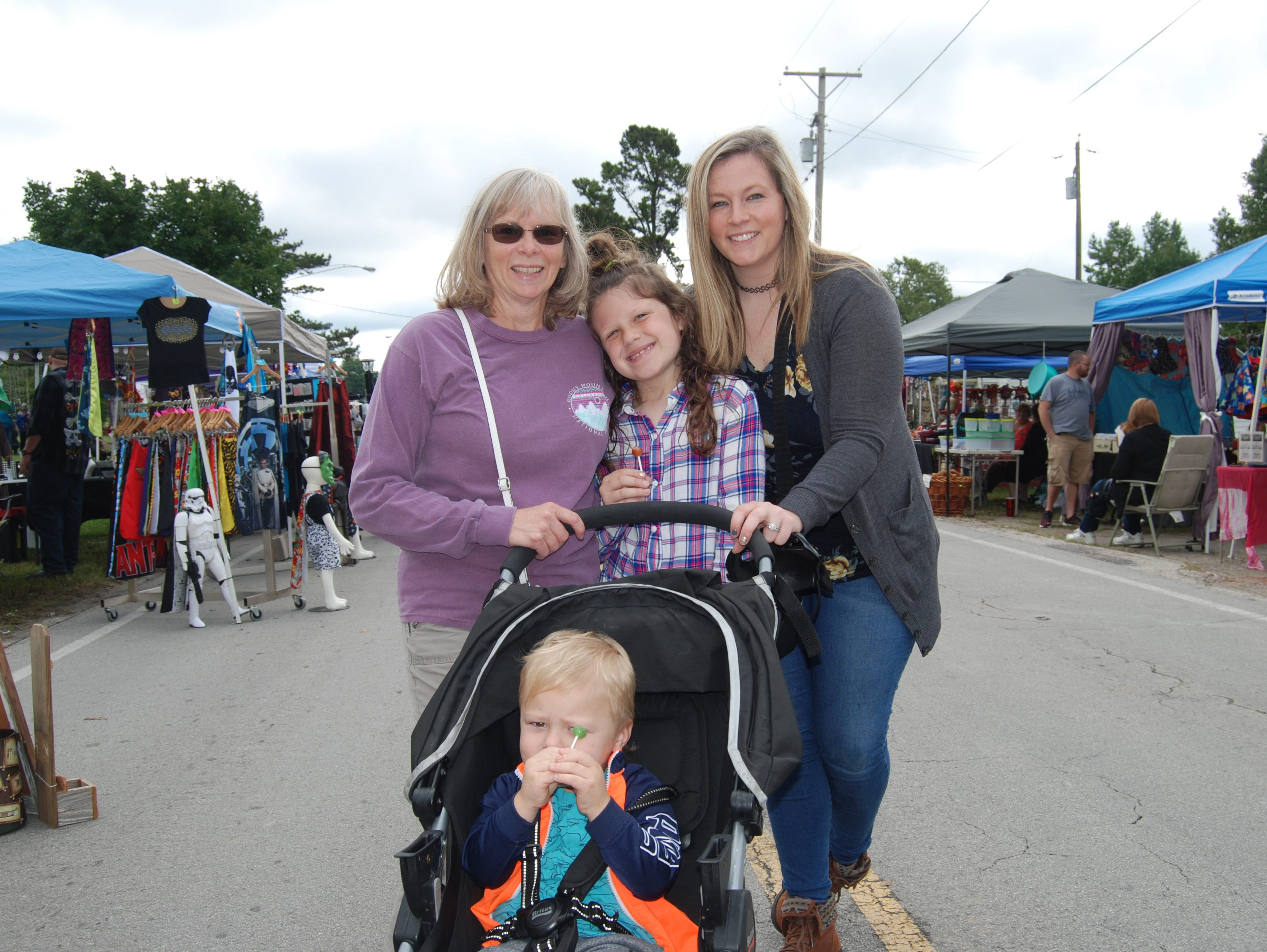 Pam Long, Sadie, Katie and Sawyer Richardson