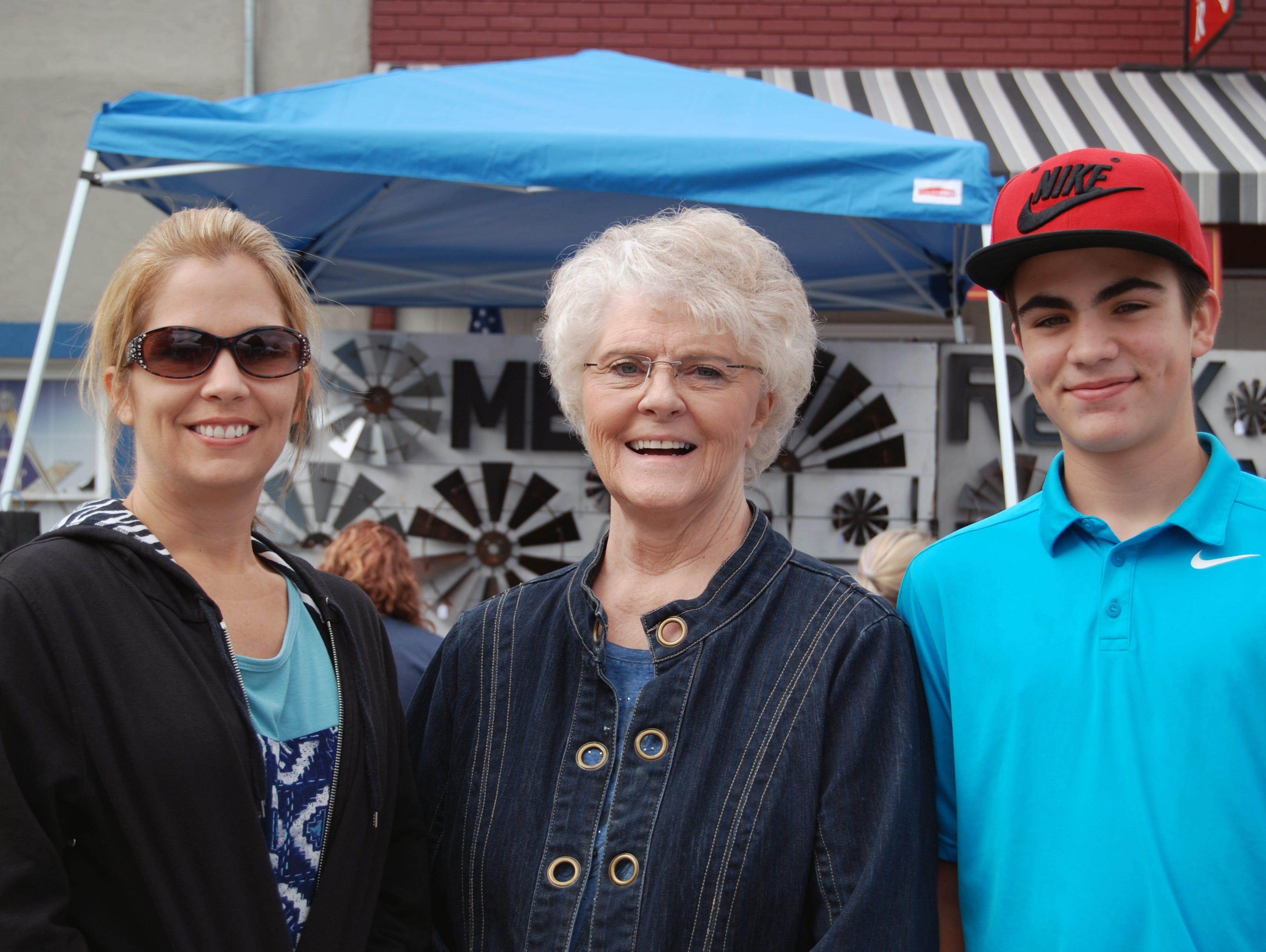 Marianne Hill, Linda Nicholls and Jacob Hill