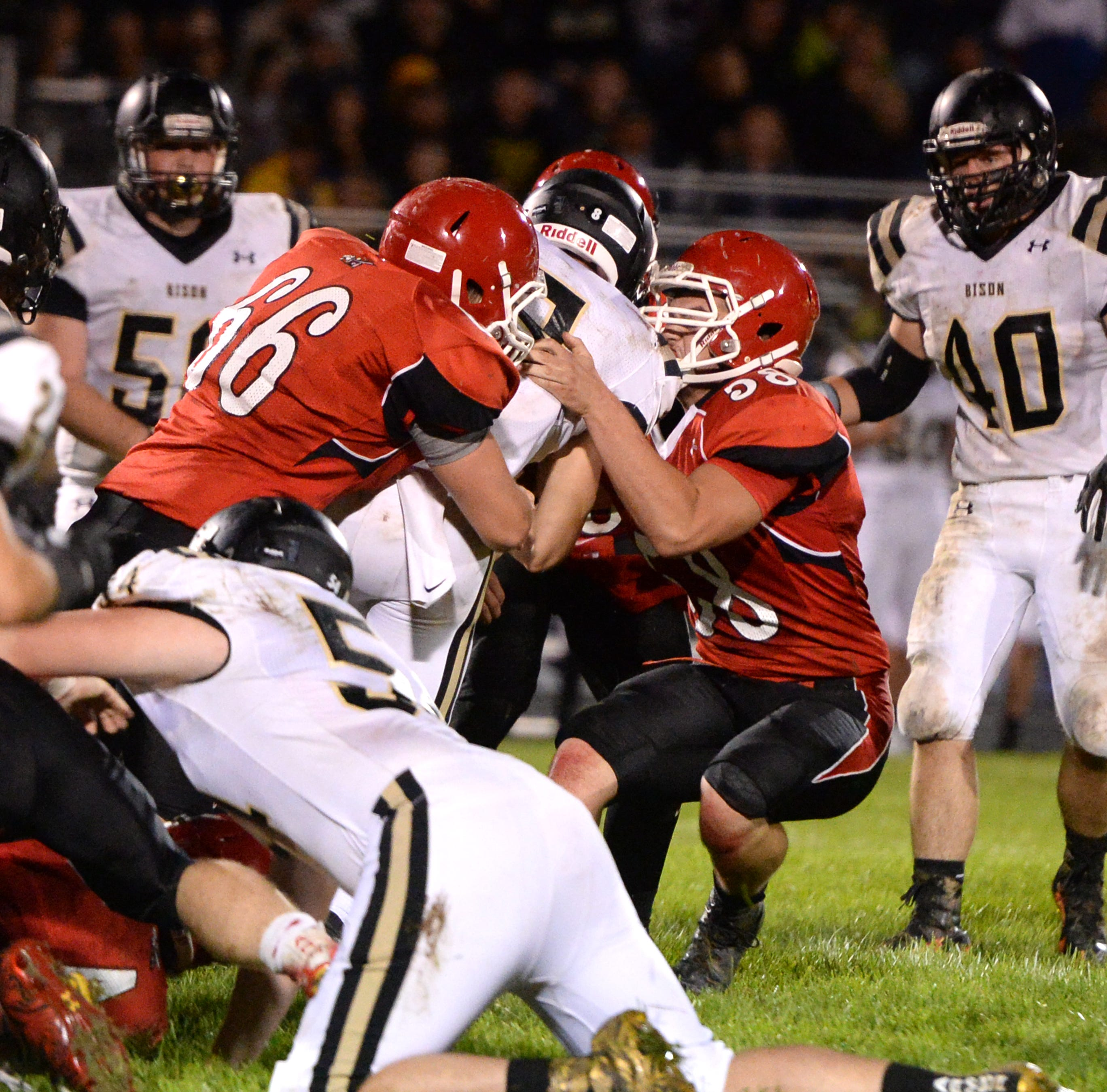 Riverheads' defense didn't make it easy for Buffalo Gap's Carter Rivenburg Saturday night.