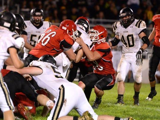 Riverheads' defense didn't make it easy for Buffalo Gap's Carter Rivenburg Saturday night.