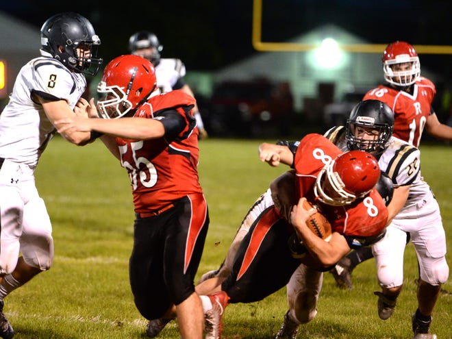 Riverheads' Zac Smiley works for a few extra yards against Buffalo Gap in a game earlier this season.